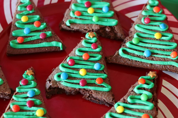 Christmas Tree Brownies from a DIY Ugly Sweater Holiday Party on Kara's Party Ideas | KarasPartyIdeas.com