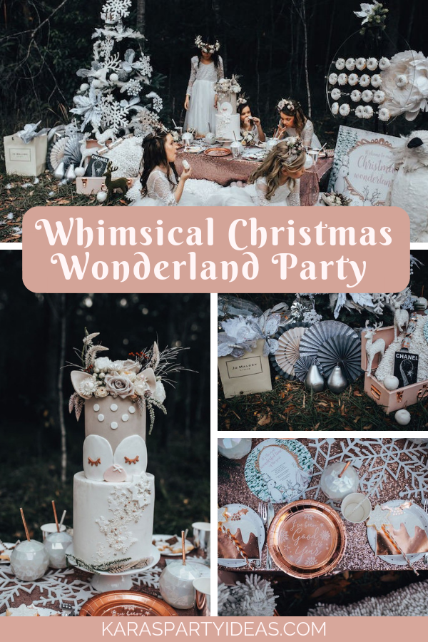 Whimsical Christmas Wonderland Party via Kara's Party Ideas - KarasPartyIdeas.com