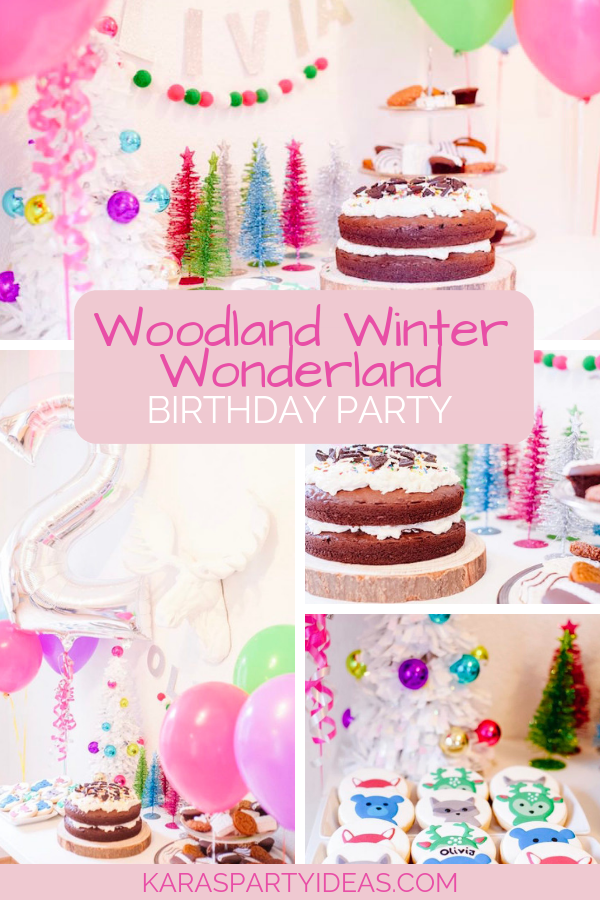 Woodland Winter Wonderland Birthday Party via Kara's Party Ideas - KarasPartyIdeas.com