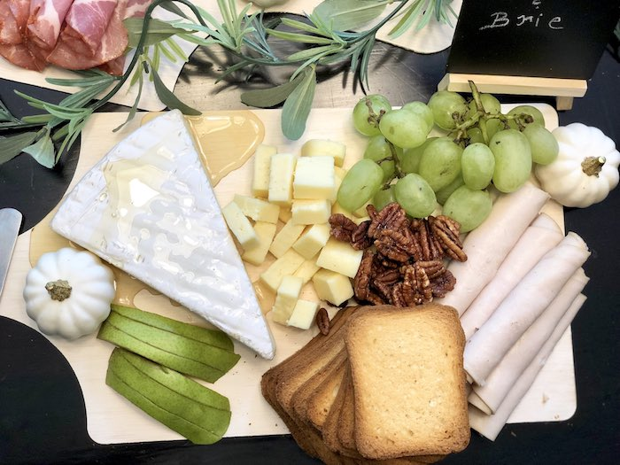 Brie Board from a Rustic Elegant Farmhouse Baby Shower on Kara's Party Ideas | KarasPartyIdeas.com