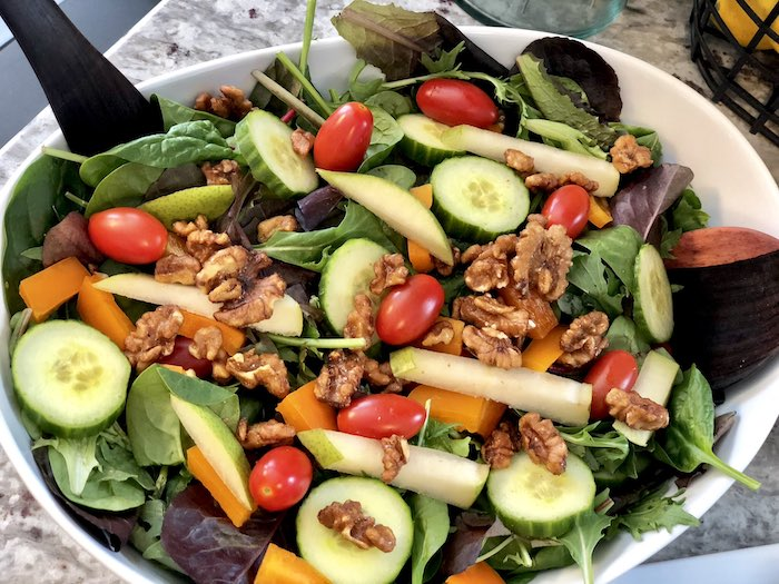 Salad from a Rustic Elegant Farmhouse Baby Shower on Kara's Party Ideas | KarasPartyIdeas.com