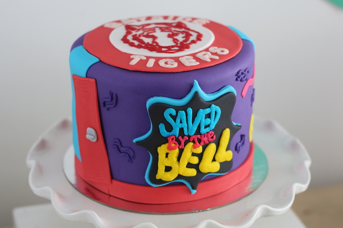"""Saved by the Bell"" Cake from a ""Saved by the Bell"" Birthday Party on Kara's Party Ideas 