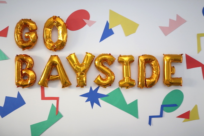 "Go Bayside Backdrop from a ""Saved by the Bell"" Birthday Party on Kara's Party Ideas 