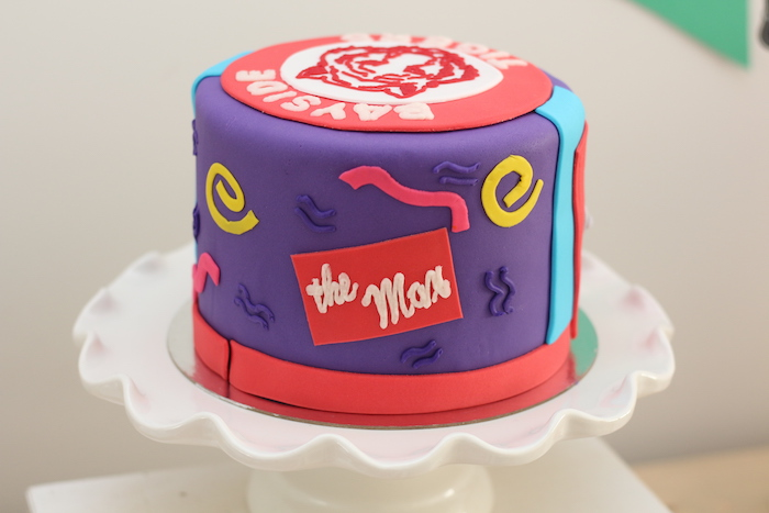 """Saved by the Bell""-inspired Cake from a ""Saved by the Bell"" Birthday Party on Kara's Party Ideas 