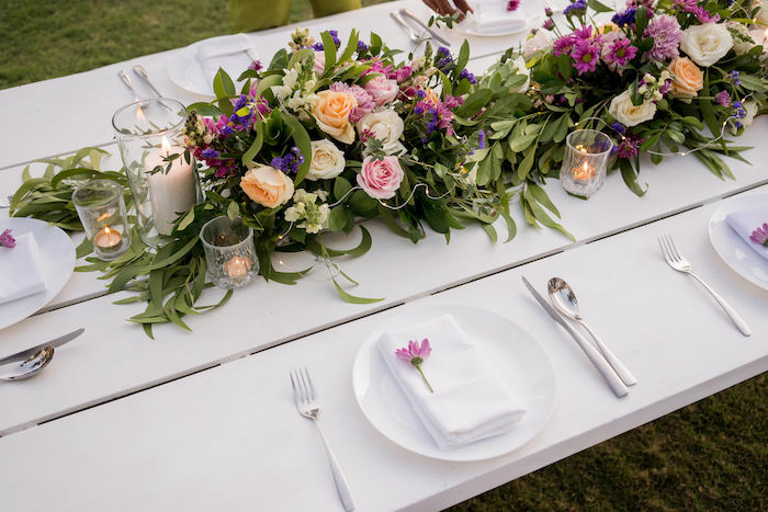 Garden Guest Table from a Bali Destination Island Wedding on Kara's Party Ideas | KarasPartyIdeas.com (11)
