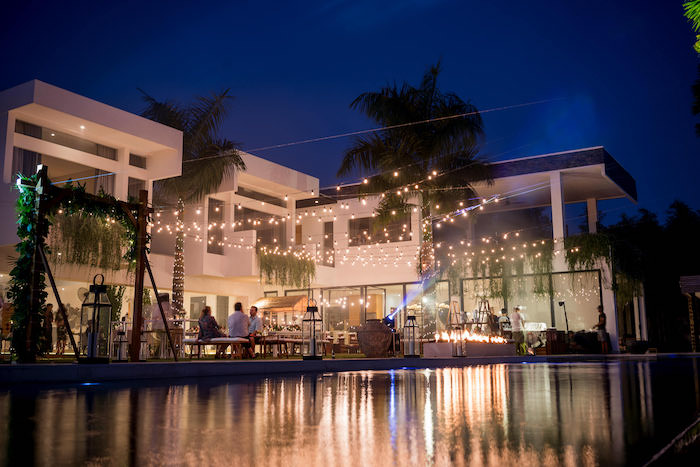 Twinkle Light + Water Venue from a Bali Destination Island Wedding on Kara's Party Ideas | KarasPartyIdeas.com (8)