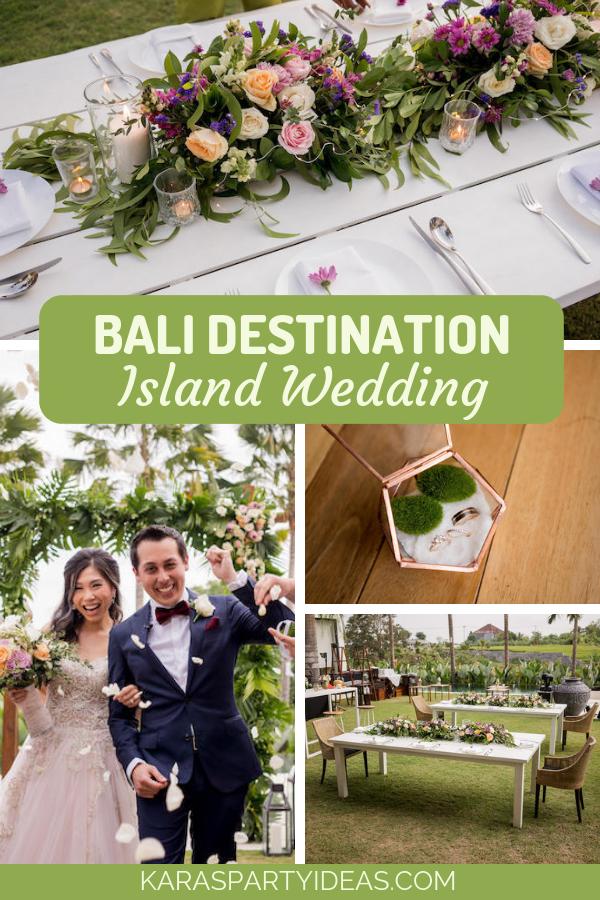 Bali Destination Island Wedding via Kara's Party Ideas - KarasPartyIdeas.com