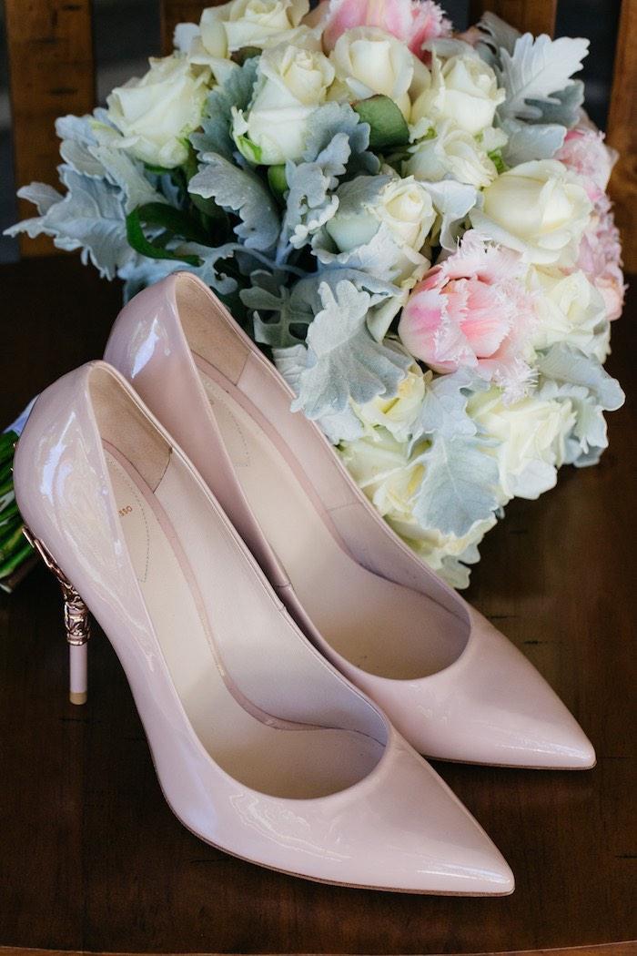 Wedding Shoes from a Ballet Inspired Wedding on Kara's Party Ideas | KarasPartyIdeas.com (48)