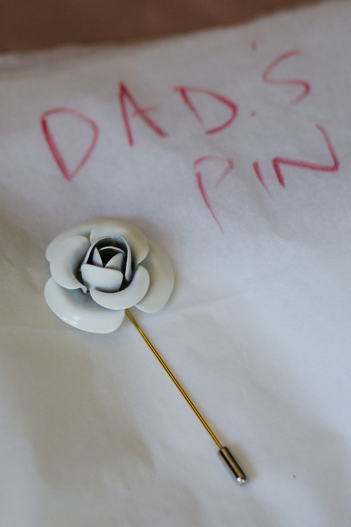Faux Flower Pin - for Dad from a Ballet Inspired Wedding on Kara's Party Ideas | KarasPartyIdeas.com (46)