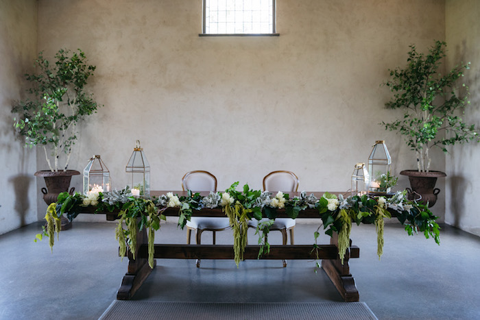 Rustic + Green Head Table from a Ballet Inspired Wedding on Kara's Party Ideas | KarasPartyIdeas.com (42)
