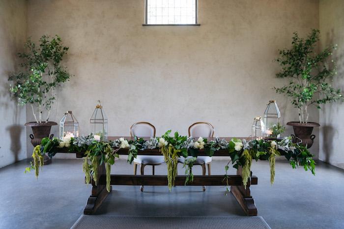 Rustic + Green Head Table from a Ballet Inspired Wedding on Kara's Party Ideas | KarasPartyIdeas.com (42)