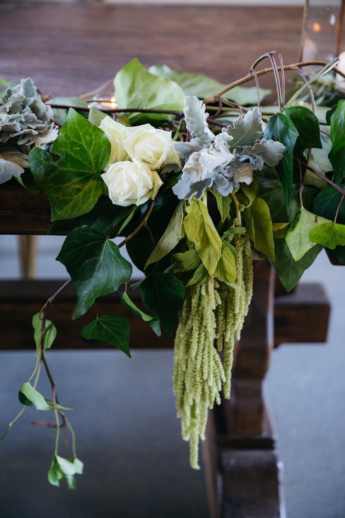 Floral Green Table Bunting from a Ballet Inspired Wedding on Kara's Party Ideas | KarasPartyIdeas.com (41)