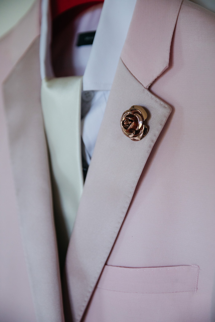 Gold Flower Pin from a Ballet Inspired Wedding on Kara's Party Ideas | KarasPartyIdeas.com (57)