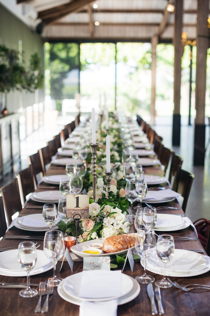 Guest + Dining Table from a Ballet Inspired Wedding on Kara's Party Ideas | KarasPartyIdeas.com (37)