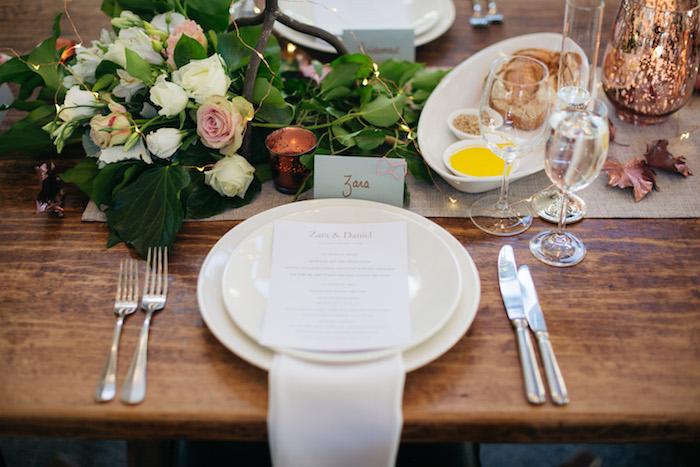 Table Setting from a Ballet Inspired Wedding on Kara's Party Ideas | KarasPartyIdeas.com (36)