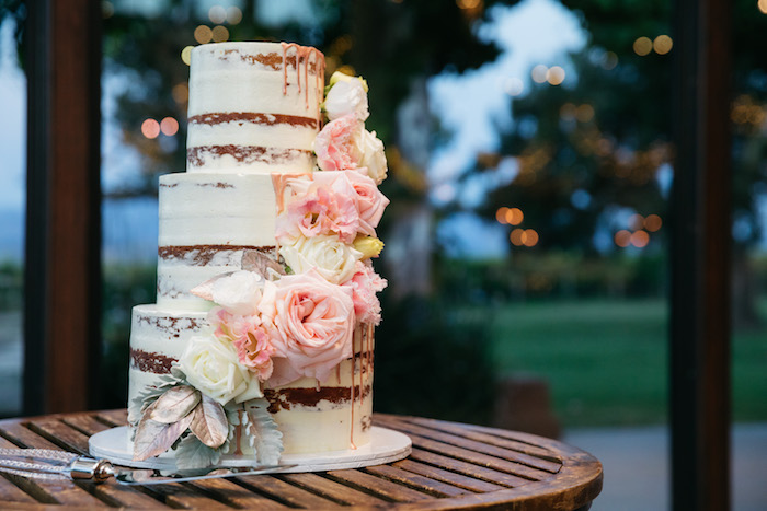 Semi-naked Cake from a Ballet Inspired Wedding on Kara's Party Ideas | KarasPartyIdeas.com (25)