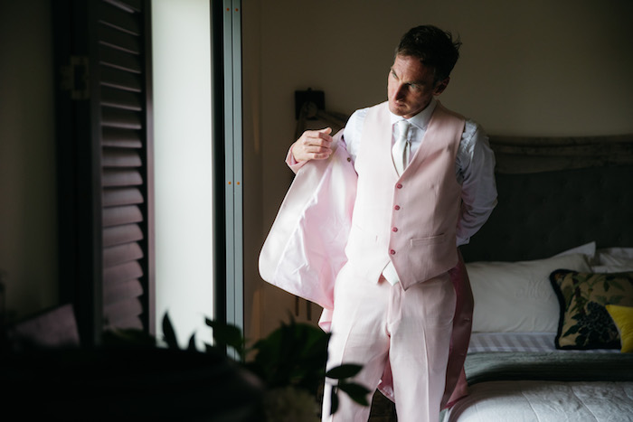 Pink-suited Groom from a Ballet Inspired Wedding on Kara's Party Ideas | KarasPartyIdeas.com (21)