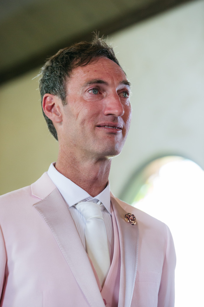 Groom with Happy Tears from a Ballet Inspired Wedding on Kara's Party Ideas | KarasPartyIdeas.com (17)