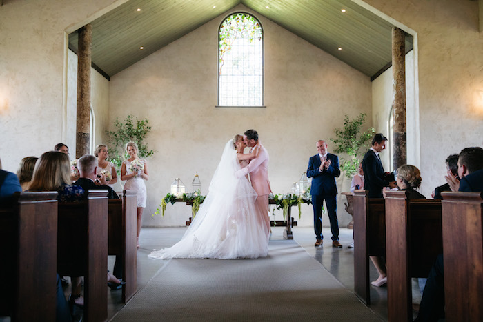 Wedding Ceremony from a Ballet Inspired Wedding on Kara's Party Ideas | KarasPartyIdeas.com (16)