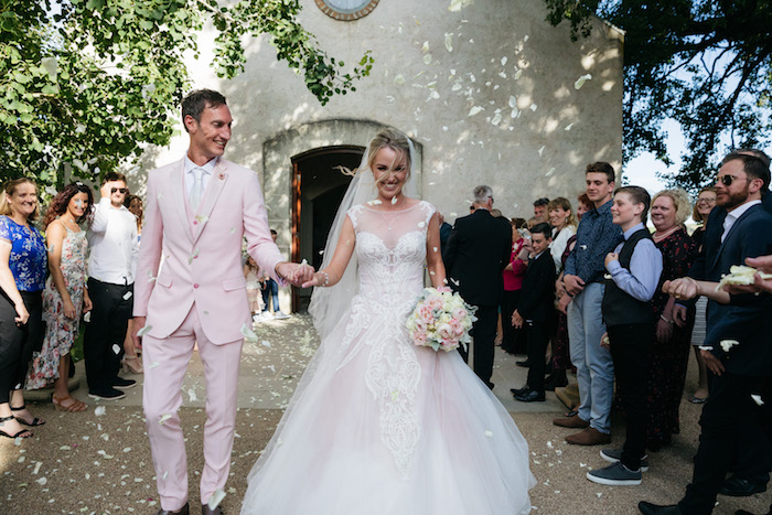 Celebratory Walk from a Ballet Inspired Wedding on Kara's Party Ideas | KarasPartyIdeas.com (15)