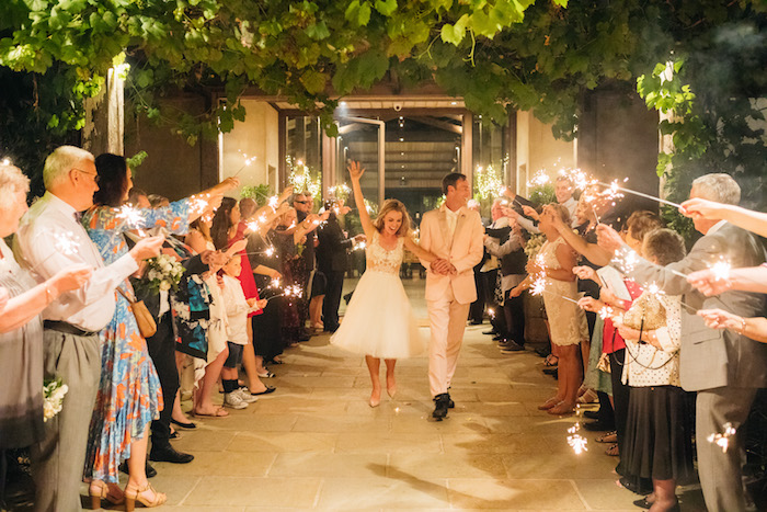 Sparkler Send-off from a Ballet Inspired Wedding on Kara's Party Ideas | KarasPartyIdeas.com (5)