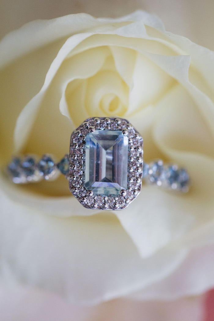 Emerald Cut Diamond Ring from a Ballet Inspired Wedding on Kara's Party Ideas | KarasPartyIdeas.com (51)