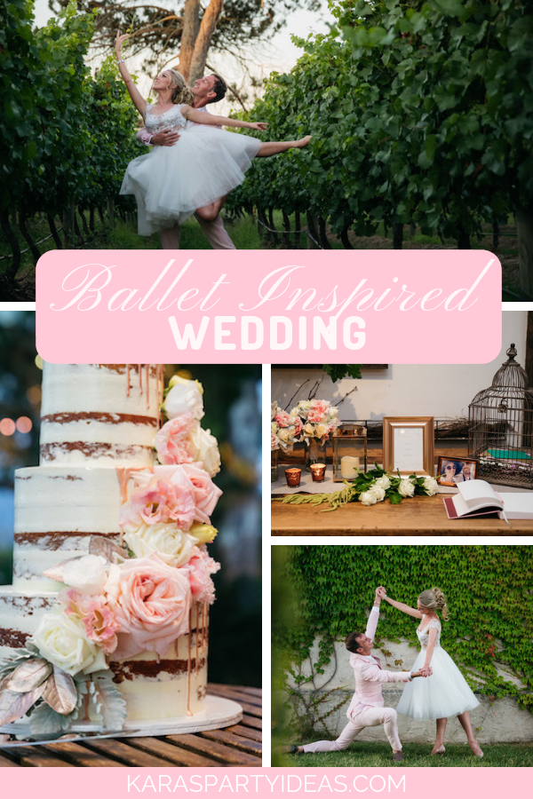 Ballet Inspired Wedding via Kara's Party Ideas - KarasPartyIdeas.com