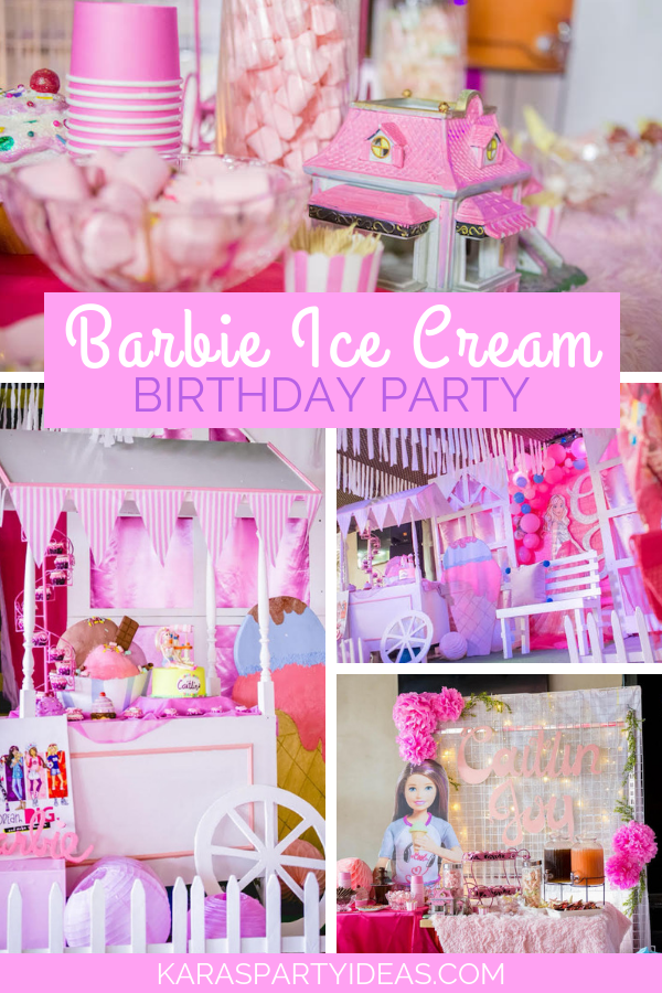 Barbie Ice-Cream Birthday Party via KarasPartyIdeas - KarasPartyIdeas.com