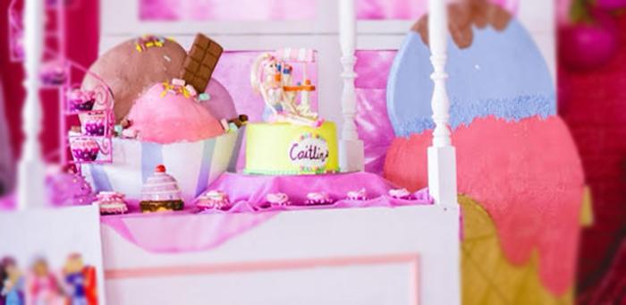 Barbie Ice Cream Birthday Party on Kara's Party Ideas | KarasPartyIdeas.com (2)