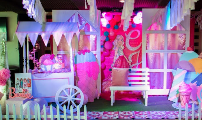 Barbie Ice Cream Birthday Party on Kara's Party Ideas | KarasPartyIdeas.com (10)
