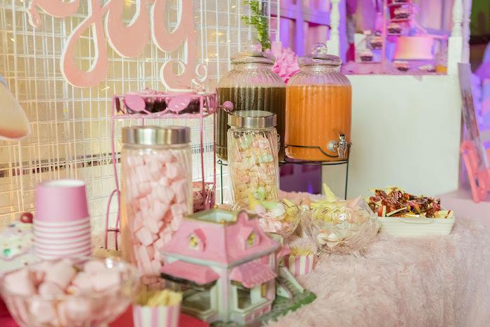 Barbie Themed Party Table from a Barbie Ice Cream Birthday Party on Kara's Party Ideas | KarasPartyIdeas.com (6)
