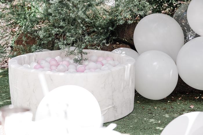 Ball + Balloon Pit from a Bear Cub Club BroNut Birthday Party on Kara's Party Ideas | KarasPartyIdeas.com (18)