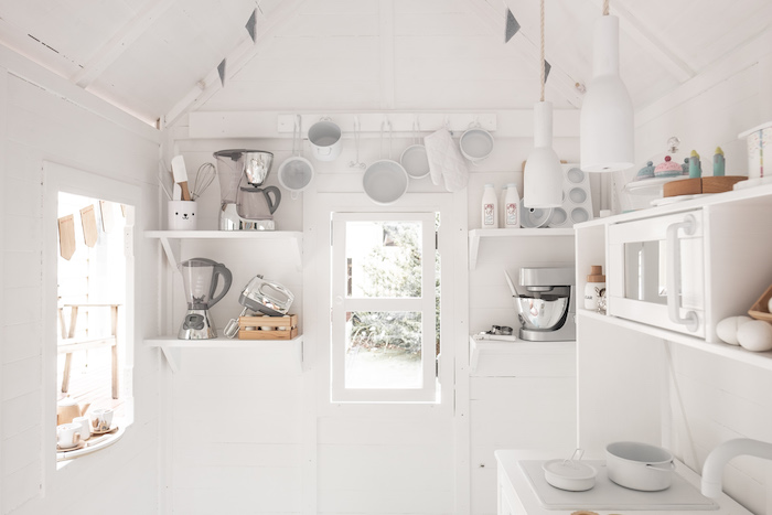 White Kitchen Clubhouse from a Bear Cub Club BroNut Birthday Party on Kara's Party Ideas | KarasPartyIdeas.com (26)