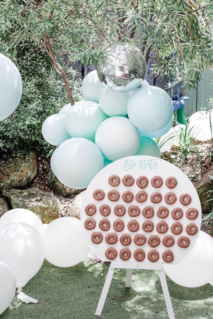 BroNut - Donut Board from a Bear Cub Club BroNut Birthday Party on Kara's Party Ideas | KarasPartyIdeas.com (25)
