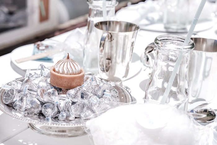 Silver Dishes & Hershey Kisses from a Bear Cub Club BroNut Birthday Party on Kara's Party Ideas | KarasPartyIdeas.com (23)