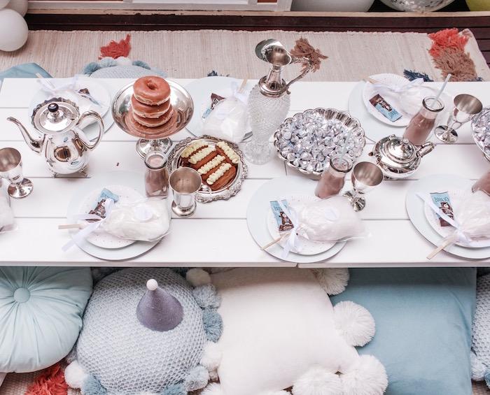 Donut-inspired Party Table from a Bear Cub Club BroNut Birthday Party on Kara's Party Ideas | KarasPartyIdeas.com (22)