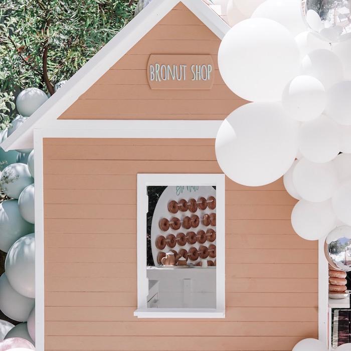 BroNut Shop + Clubhouse from a Bear Cub Club BroNut Birthday Party on Kara's Party Ideas | KarasPartyIdeas.com (21)