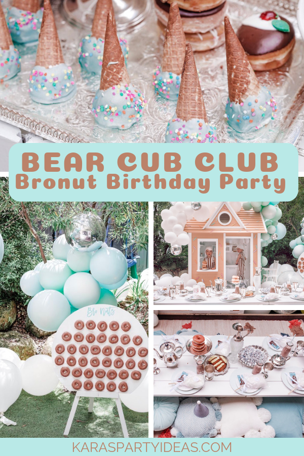 Bear Cub Club Bronut Birthday Party via Kara's Party Ideas - KarasPartyIdeas.com