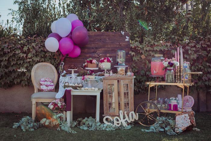 Bohemian Garden 10th Birthday Party on Kara's Party Ideas | KarasPartyIdeas.com (21)