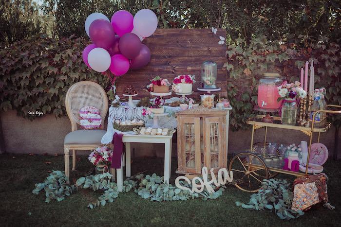 Bohemian Garden 10th Birthday Party on Kara's Party Ideas | KarasPartyIdeas.com (14)