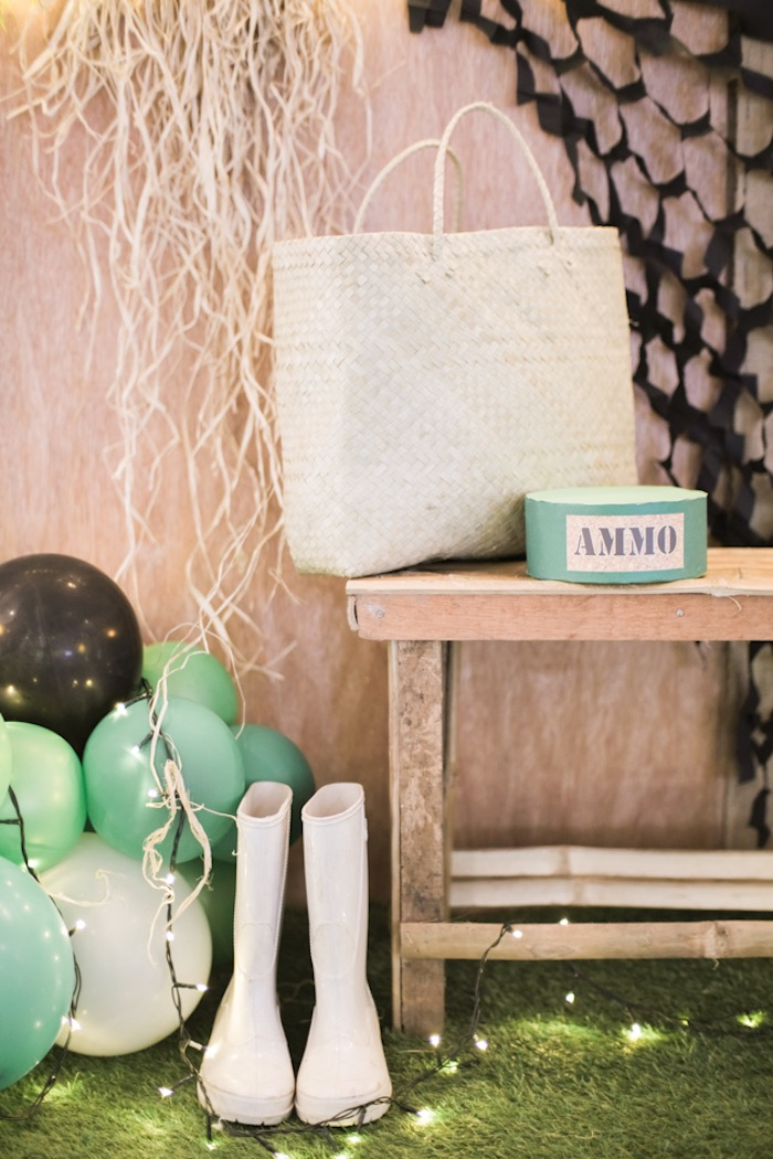 Decor Pieces from a Camouflage Military Themed Birthday Party on Kara's Party Ideas | KarasPartyIdeas.com (14)
