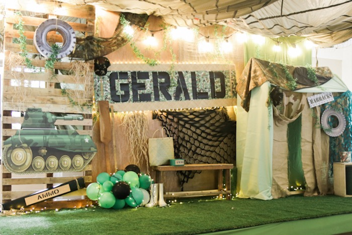 Camouflage Military Themed Birthday Party on Kara's Party Ideas | KarasPartyIdeas.com (25)