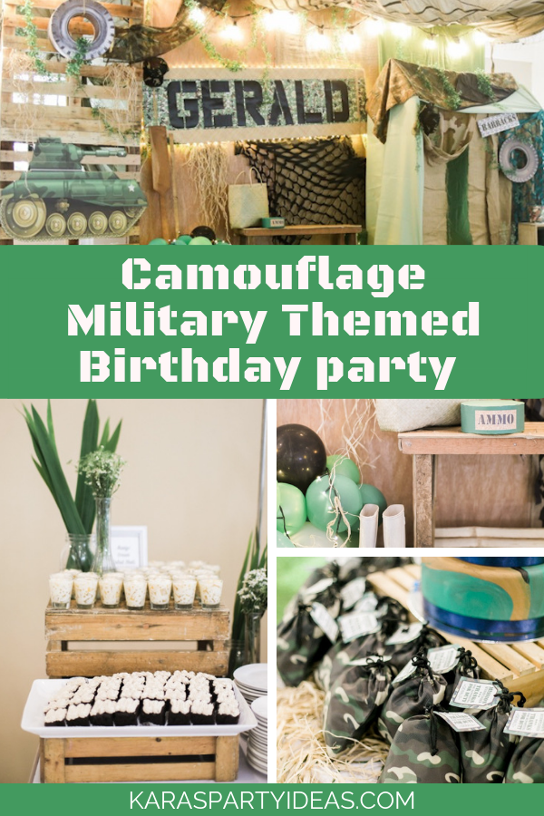 Camouflage Military Themed Birthday Party via Kara's Party Ideas - KarasPartyIdeas.com