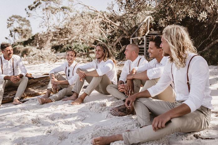 Groom & Groomsmen from a Coachella Inspired Seaside Wedding on Kara's Party Ideas | KarasPartyIdeas.com (10)