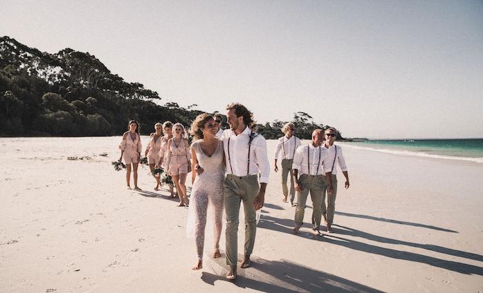 Beachside Wedding Party from a Coachella Inspired Seaside Wedding on Kara's Party Ideas | KarasPartyIdeas.com (8)