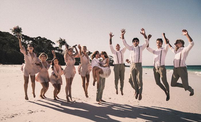 Wedding Party from a Coachella Inspired Seaside Wedding on Kara's Party Ideas | KarasPartyIdeas.com (7)