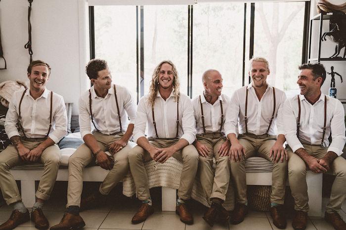 Groomsmen from a Coachella Inspired Seaside Wedding on Kara's Party Ideas | KarasPartyIdeas.com (21)