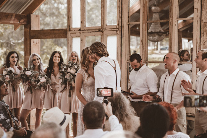 I Do Kisses from a Coachella Inspired Seaside Wedding on Kara's Party Ideas | KarasPartyIdeas.com (16)