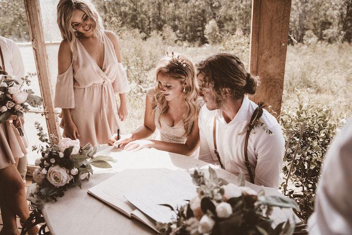 Coachella Inspired Seaside Wedding on Kara's Party Ideas | KarasPartyIdeas.com (15)