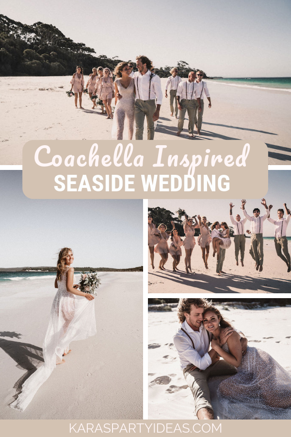 Coachella Inspired Seaside Wedding via Kara's Party Ideas - KarasPartyIdeas.com